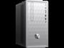 HP - Pavilion 590-p0005np - AMD Ryzen 5 2400G, 8GB, 1TB, AMD Radeon Vega 11, W10 Home 64 - Moldura frontal em prateado natural, padrão linear escovado