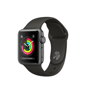 APPLE - Apple Watch Series 3 GPS: 38mm Space Grey Aluminium Case with Grey Sport Band