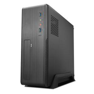 TOOQ - Caixa de PC Slim M-ATX/mini-ITX TQC-3006DU3C + Fonte de Alimentacao SFX 500W - Preto