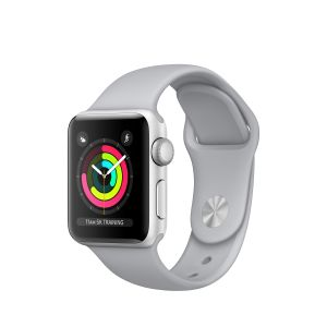 APPLE - Apple Watch Series 3 GPS: 38mm Silver Aluminium Case with Fog Sport Band