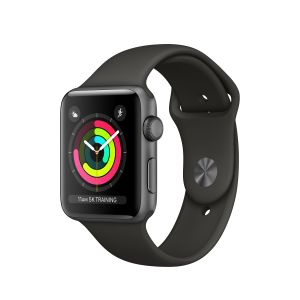 APPLE - Apple Watch Series 3 GPS: 42mm Space Grey Aluminium Case with Grey Sport Band