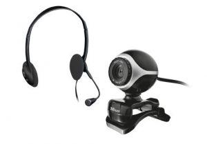 TRUST - Webcam + Auricular Exis Chatpack - Black - 17028