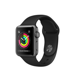 APPLE - Apple Watch Series 3 GPS: 38mm Space Grey Aluminium Case with Black Sport Band