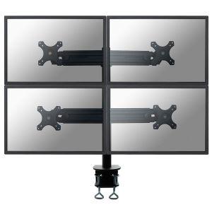 NEWSTAR - FPMA-D700D4 - Montagem na secretária para 4 visores LCD - preto - tamanho de tela: 19P-30P