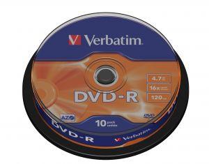 VERBATIM - DVD-R 16x Pack 10