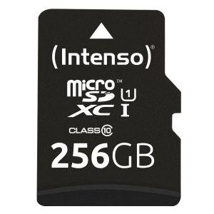 Intenso - Cartão de Memória Micro SD UHS-I Premium 256G c/adaptador 3423492