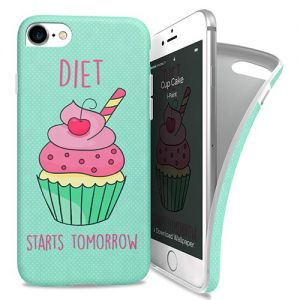 I-PAINT - Soft Case iPhone 7 (cup cake)