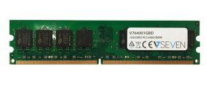 V7 - 1GB DDR2 800MHZ CL6 MEM DIMM PC2-6400 1.8V - V764001GBD