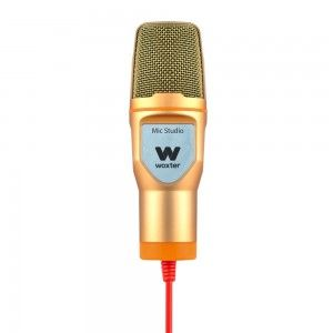 WOXTER - MIC-STUDIO STUDIO MICROPHONE C/ Fios Gold, Laranja