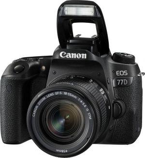 CANON - EOS 77D + EF-S 18 -55mm f/4-5.6 IS STM - 24,2 megapixels, DIGIC 7, Wi-Fi e NFC, Dual Pixel CMOS AF, Vídeo em Full HD, BT