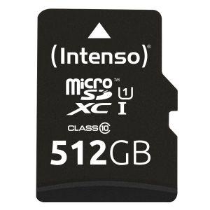 Intenso - Cartão de Memória MicroSD UHS-I Premium 512GB c/adaptador 3423493