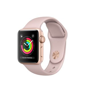 APPLE - Apple Watch Series 3 GPS: 38mm Gold Aluminium Case with Pink Sand Sport Band