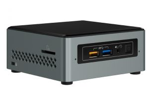 INTEL - Next Unit of Computing Kit NUC6CAYS - Barebone - mini PC - 1 x Celeron J3455 / 1.5 GHz - RAM 2 GB - flash - eMMC 32 GB - HD Graphics 500 - GigE - WLAN: 802.11a/b/g/n/ac, Bluetooth 4.2 - Win 10 Home 64-bit