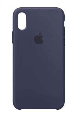 APPLE - iPhone X Silicone Case - Midnight Blue