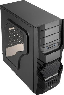 AEROCOOL - Caixa AEROCOOL CYCLOPS ADV. ATX/MICRO-ATX/MINI-ITX/MIDI-TOWER C/WINDOW 2XUSB3.0 BLACK - CYCLOPSADBK