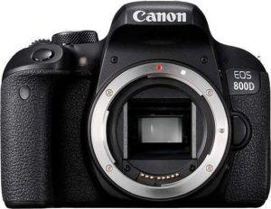 CANON - EOS 800D BODY - 24.2 MP Sensor APS-C, 45 Pontos AF tipo cruzado, Dual Pixel CMOS AF, Wi-Fi, NFC e Bluetooth, Visor Ótico, Vídeo Full HD a 60p, Disparo contínuo de 6 fps, Ecrã tátil de ângulo variável