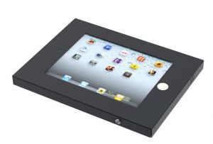 NEWSTAR - IPAD2N-UN20BLACK - Cobertura para tablet - aço - preto - interface de montagem: 100 x 100 mm - armação para tecto: montável na parede: montável em secretária - para Apple iPad (3ª geração): iPad 2