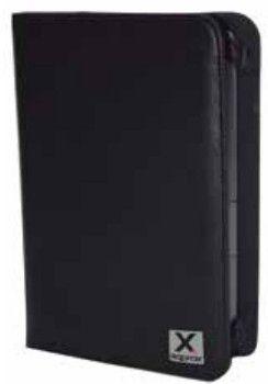 APPROX - Capa flip cover para leitor de eBook têxtil, pele de poliuretano preto