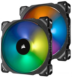 CORSAIR - VENTILADOR CAIXA CORSAIR ML140 PRO RGB 140MM PREMIUM MAGNETIC LEVITATION RGB LED PWM FAN TWIN FAN PACK CO-9050078-WW