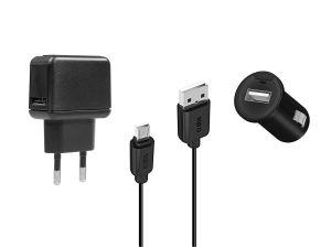 SBS - CHRG KIT/USB TRAVEL CHRG 220 V BATT CAR CHRG 12/24 V 1 MIC USB CBL