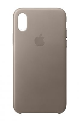 APPLE - iPhone X Leather Case - Taupe