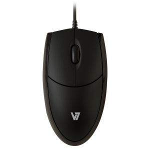 V7 - MOUSE OPTICAL ALL BLK PERP USB 3 BUTTON WHEEL 1000DPI
