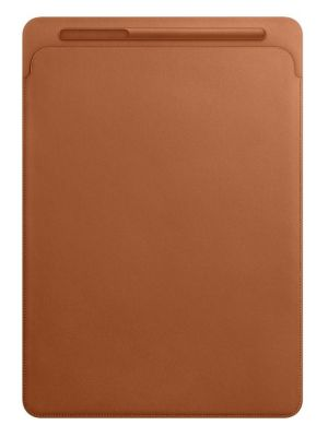 APPLE - Leather Sleeve for 12.9-inch iPad Pro - Saddle Brown