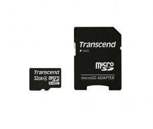 TRANSCEND - MICROSD 32GB + ADAPTADOR SD (CLASE 4) (TS32GUSDHC4)