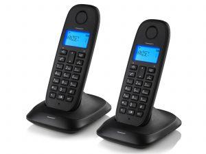 TOPCOM - TELEFONE INAL. DECT DUO PRETO - TE-5732