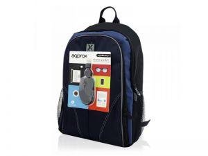 APPROX - Bolsa para transporte de notebook 15.6P preto com rato USB óptico