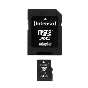 INTENSO - PLACA DE MEMORIA FLASH - 64 GB - MICROSDXC