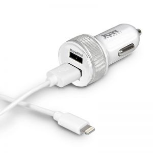 PORT Designs - Car Charger 2 USB & Lightning