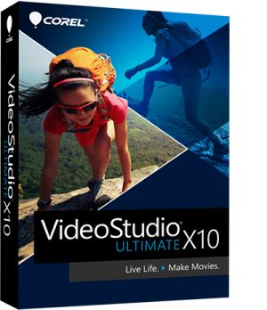 COREL - VideoStudio Ultimate X10 - Pacote de caixa - 1 utilizador (mini-box) - Win - Multi-Lingual - Europa