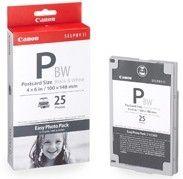 CANON - P25BW Caixa com Papel Fotográfico + Tinteiro para impressoras fotográficas Selphy