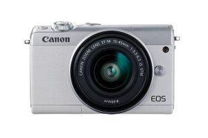 CANON - EOS M100 White M15-45 S+CC-FJ001 - 24.2 megapixels, Ecrã tátil inclinável, Full HD 60P, Bluetooth, Wi-Fi/NFC