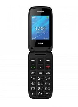 AEG - SENIOR PHONE SM420 CLAMSHELL GSM GSM FM RADIO LCD 2.4 IN GREY  - 643610120201