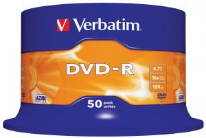 VERBATIM - DVD -R 4.7GB 16X SPINDLE 50 ADVANCED AZO