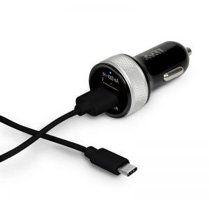PORT Designs - Car Charger 2 USB & Type C