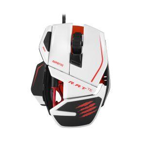 MAD CATZ - R.A.T. TE USB LASER 8200DPI mão direita Azul, Vermelho, Côr Branco Rato