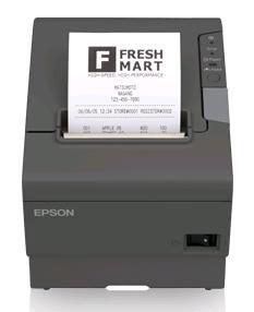 EPSON - TM-T88V (Negro) - Térmica com corte 80mm. I / F Paralelo + USB: Fonte de alimentação incluida