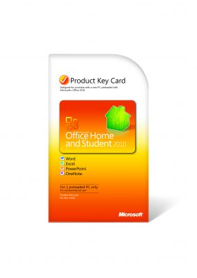 MICROSOFT - Office Home and Student 2010 Inglês PC Attach Key PKC Microcase