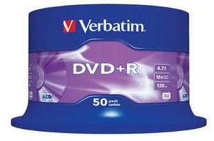 VERBATIM - DVD +R 4.7GB 16X SPINDLE 50 ADVANCED AZO