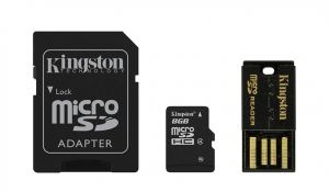 KINGSTON - SD MICRO 8GB (C /  ADP SD+ ADP USB)