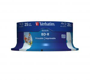 VERBATIM - BLU-RAY BD-R 6X 25GB PRINTABLE BOBIN