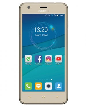 HISENSE - SMARTPHONE  U962 5P FWVGA QUAD-CORE 1.2 GHZ/1GB 8GB/2MP 5MP/ANDROID 6.0 3G GOLD