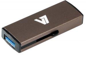 V7 - AXPRO - SLIDER USB STICK 8GB MEM USB 3.0 GREY