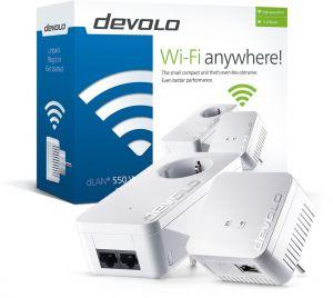 DEVOLO - DLAN 550 WIFI STARTER KIT PowerLine - PT9638