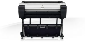 CANON - iPF780 de 36/A0 com 256MB memória, 6 tinteiros CMYBk+2MBk Hot Swap de 130ml ou 300ml, rolo de alimentação, aviso de falta de tinta,  Plug-in Office e gestão de custos. Inclui Pedestal e PosterArtist Lite - válido p/unidades facturadas até 31 de Ma