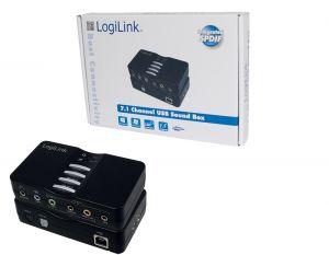 Logilink - PLACA DE ÁUDIO 7.1 USB BOX UA0099