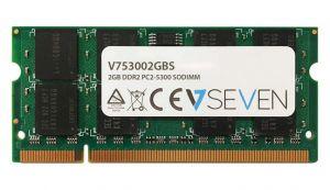 V7 - 2GB DDR2 667MHZ CL5 MEM SO DIMM PC2-5300 1.8V - V753002GBS